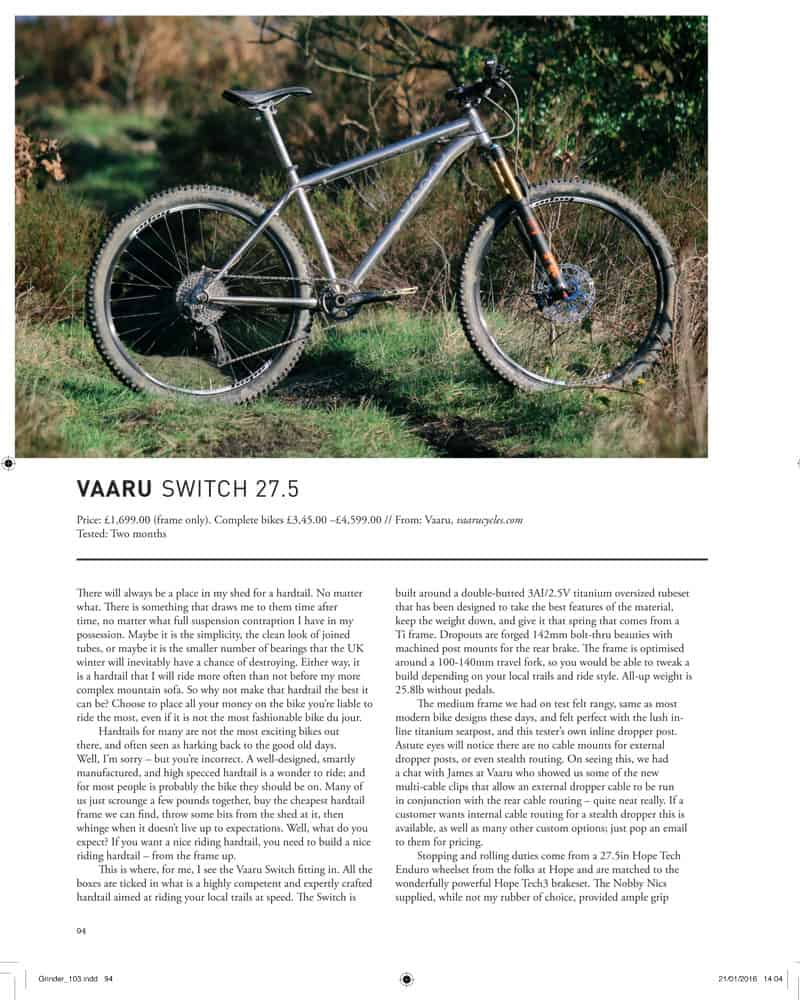 Singletrack review of 650 Switch