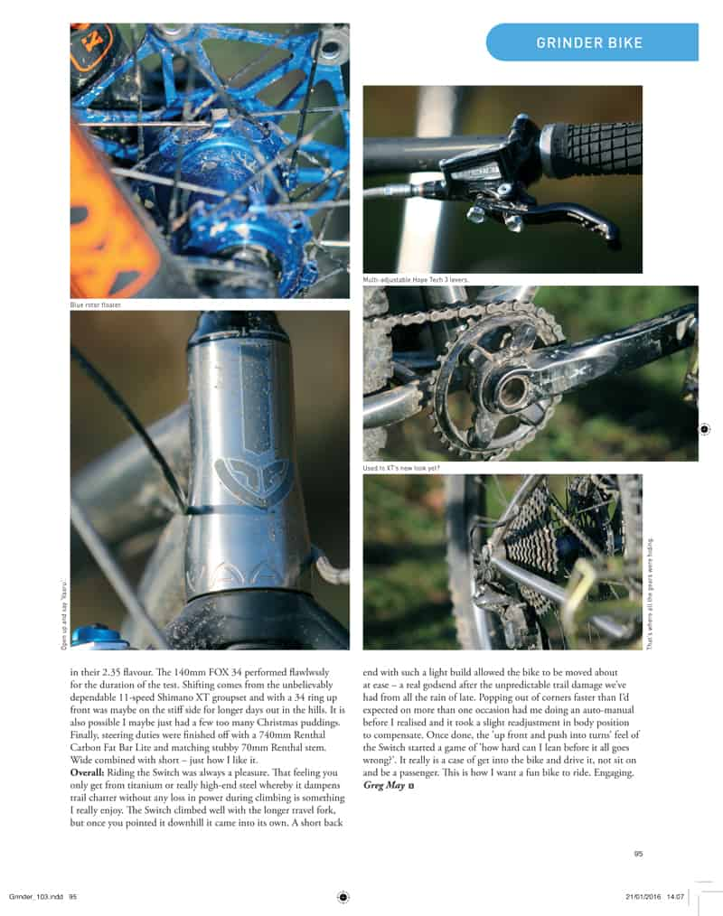 Singletrack review 650 Switch