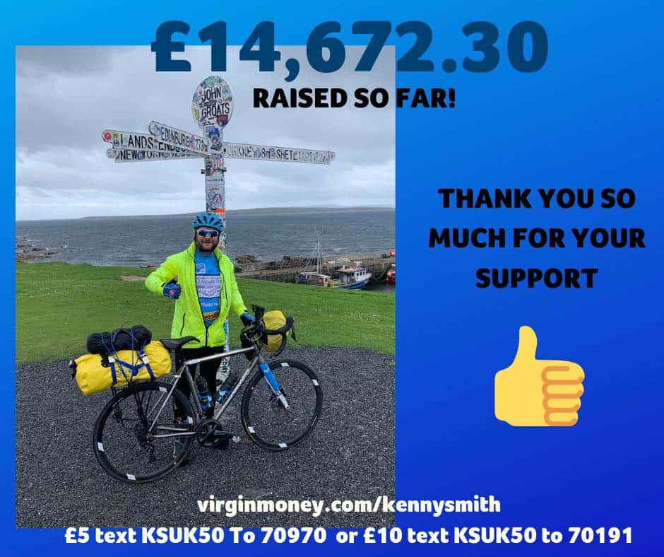 Kenny's fundraising for MS Trust